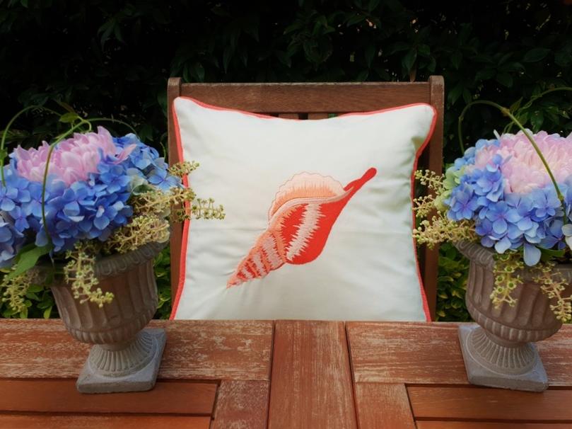 deniz kabuğu yastık