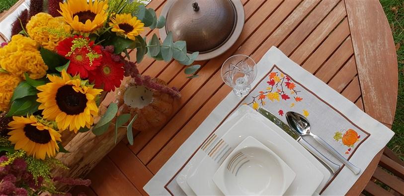 balkabaklı kuru yapraklı amerikan servis