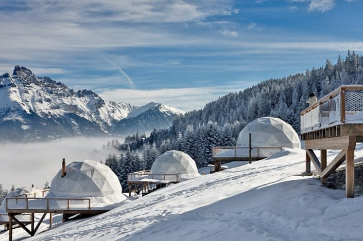 whitepod eco luxury hotel switzerland
