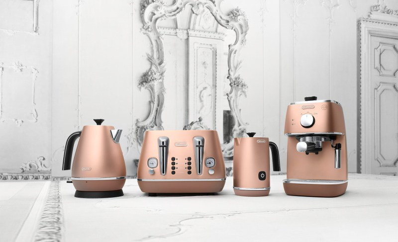 DeLonghi-Distinta-Copper-Kitchen-Appliances